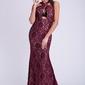 Evalola sukienka - bordowy 26011-2