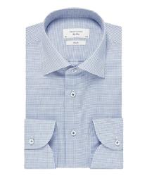 Błękitna koszula profuomo sky blue w delikatny wzór 42