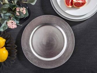 Podkładka pod talerz  na stół altom design srebrna 33 cm