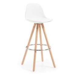 Hoker  krzesło barowe stag biały