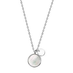 Staviori naszyjnik 47cm. masa perłowa. srebro rodowane 0,925. średnica 15 mm.