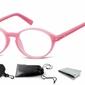 Okulary dziecięce zerówki okrągłe lenonki pk15b różowe