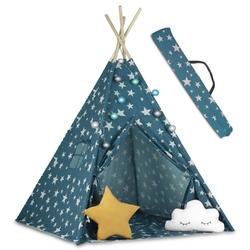 Namiot tipi dla dzieci ze światełkami kolor niebieski