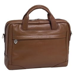 Skórzana torba na laptopa 17 mcklein bridgeport 15474l brązowa - brązowy