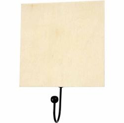 Drewniana tabliczka do zawieszenia - decoupage