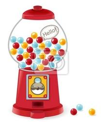 Naklejka maszyna gumball