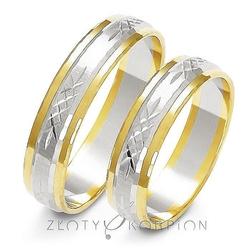 Obrączki ślubne złoty skorpion – wzór au-a-220