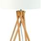 Goodmojo :: lampa stołowa kilimanjaro 5-nożna 34cm abażur 32x20cm, lniany biały