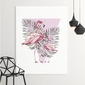 Obraz na płótnie - flamingo triangle , wymiary - 80cm x 120cm