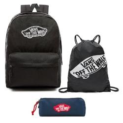 Zestaw plecak vans realm backpack - vn0a3ui6blk + worek piórnik