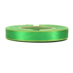 Wstążka satynowa ozdobna 12mm 22m - zielona - ziel