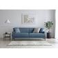 Sofa trzyosobowa collie denimowa niebieska nowoczesna