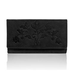 Skórzany portfel damski t-05 paolo peruzzi czarny