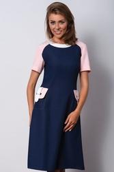 Granatowa sukienka do pracy leire