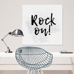 Rock on - modny obraz na płótnie , wymiary - 60cm x 60cm
