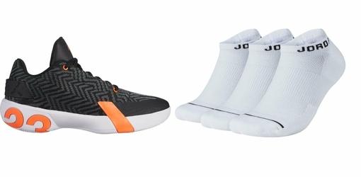 Zestaw buty Air Jordan Ultra.Fly 3 Low - AO6224-008 + skarpety Air Jordan Jumpman No-Show 3 Pack - SX5546-100