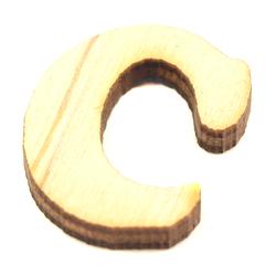Drewniana literka do rękodzieła - C - C