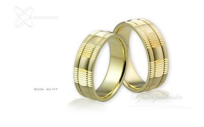 Obrączki ślubne - wzór au-117