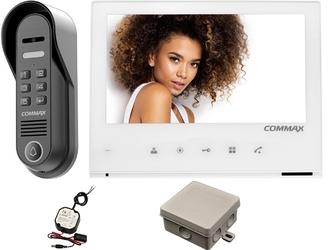 Wideodomofon zestaw commax kamera natynkowa drc-4cpnk + monitor cdv-70h2 white