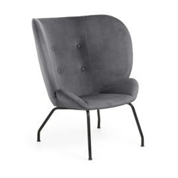Fotel carma 90x82 cm szary