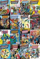 Dc comics justice league cover montage - plakat