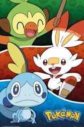 Pokemon galar starters - plakat