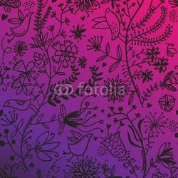 Board z aluminiowym obramowaniem przepiękny kwiatowy wzór