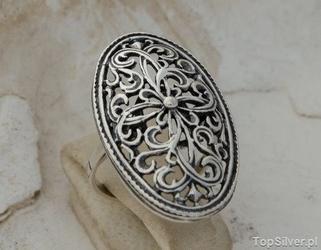Apulia - srebrny ażurowy pierścień