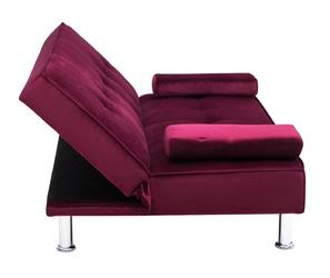 Sofa trzyosobowa z funkcją spania divi czerwona welur
