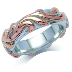 Morena srebrny pierścionek obrączka pozłacany unisex
