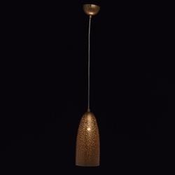 Perforowana, złota lampka wisząca tworząca unikalny wzór mw-light neuwied 682011901
