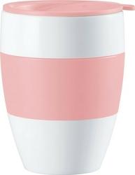 Kubek termiczny aroma to go 2.0 biało-różowy