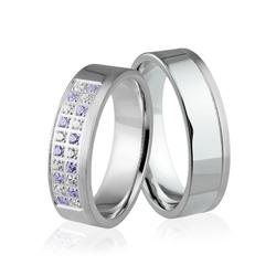 Obrączki srebrne z kolorowymi kamieniami - wzór ag-330