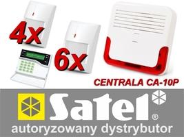 Alarm satel ca-10 lcd, 6xgraphite pet, 4xgrey plus, syg. zew. sd-6000 - możliwość montażu - zadzwoń: 34 333 57 04 - 37 sklepów w całej polsce