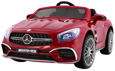 Duży samochód na akumulator mercedes sl65 amg czerwony lakier metalik + pilot