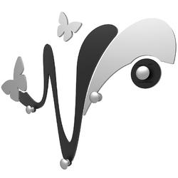 Wieszak ścienny dekoracyjny butterfly calleadesign biały 50-13-1-1