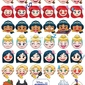Disney emoji princess emotions - plakat