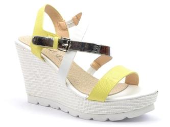 Sandały monnari but0190 żółty