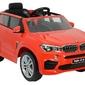 Duży samochód na akumulator bmw x5 czerwony
