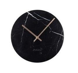 Zuiver :: zegar marble time czarny ø25cm