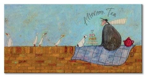 Afternoon tea - obraz na płótnie