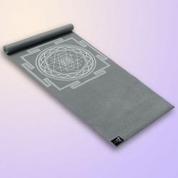 Mata do jogi yogimat basic sri yantra, kolor grafit 185 cm x 61 cm x 4 mm