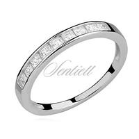 Srebrny delikatny pierścionek pr.925 cyrkonia kwadratowa