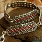 Gata - srebrna bransoletka z rubinami