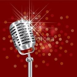 Obraz na płótnie canvas dwuczęściowy dyptyk mikrofon
