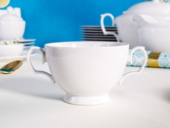 Bulionówka  flaczarka porcelana mariapaula biała