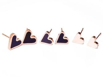 Kolczyki zestaw 3 pary serce stal nierdzewna 316l - serce