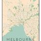 Melbourne mapa kolorowa - plakat wymiar do wyboru: 50x70 cm
