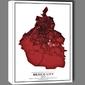 Crimson cities, mexico city - obraz na płótnie