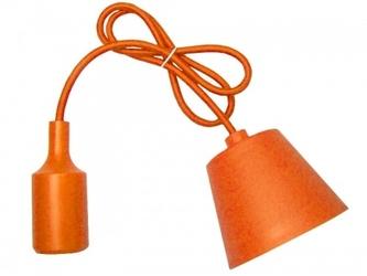 Sufitowa lampka wisząca silikonowa, zwis, loft - pomarańczowy